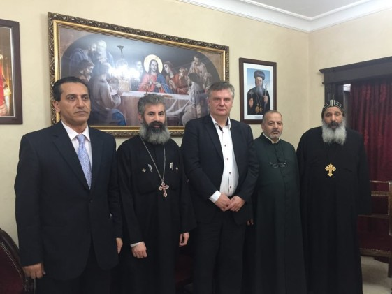 Meeting with senior representatives from the Coptic Church in Beirut. Photo: own