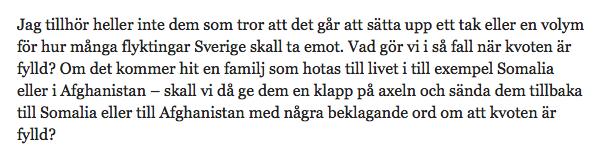 Skärmavbildning Ulf Bjerelds blogg