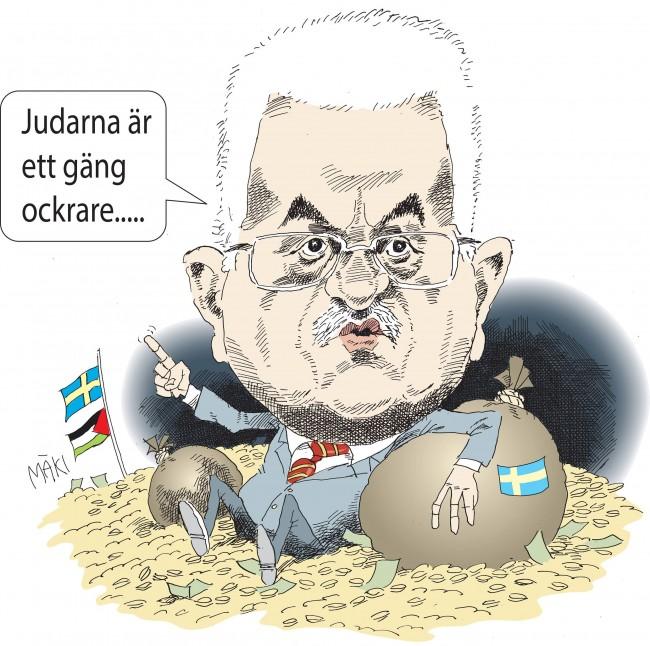 Trots president Abbas antisemitiska åsikter garanterar UD Sveriges lojalitet