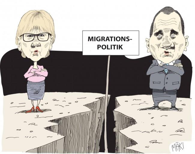 Migrationssprickan skär in mellan stats- och utrikesministern