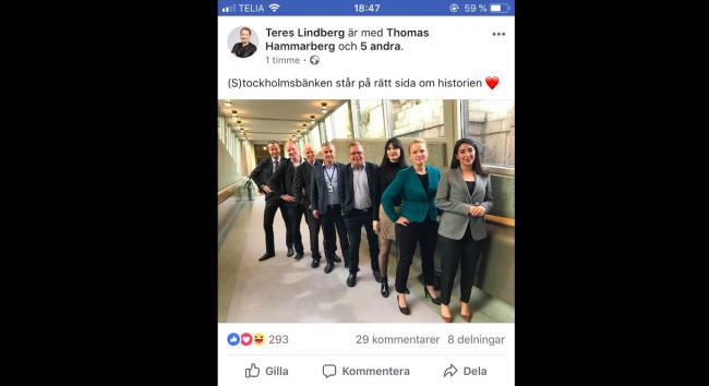 Socialdemokrater och Sverigedemokrater på samma sida i historien