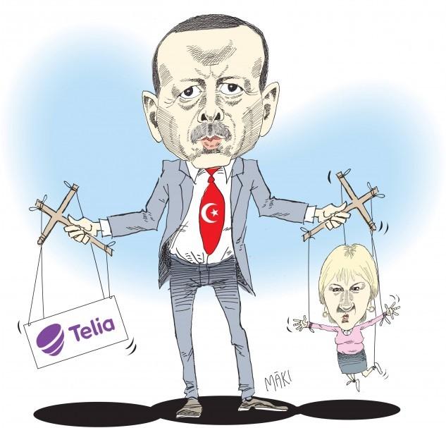 Margot Wallström och Telia fortsatt i Erdogans ledband