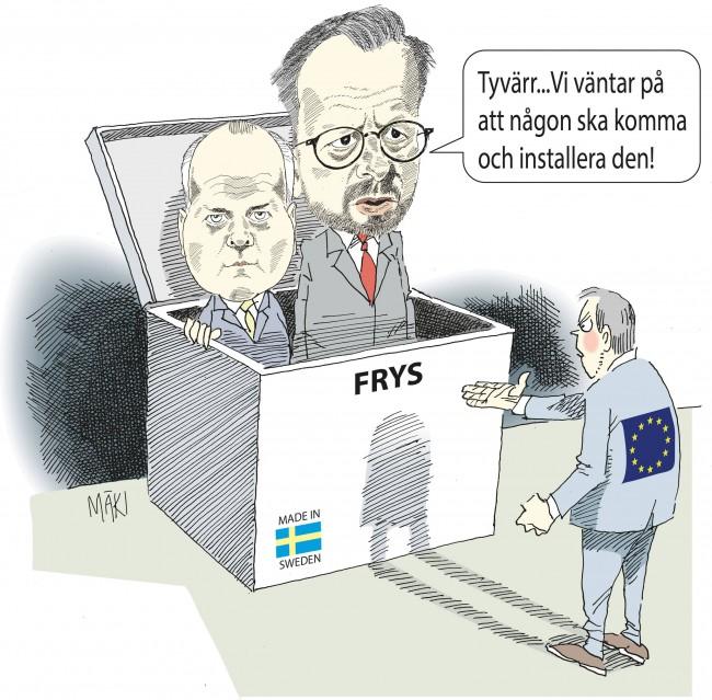 Sverige placerar sig i den europeiska frysboxen